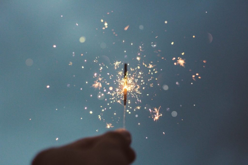 fireworks celebrate your new year resolutions