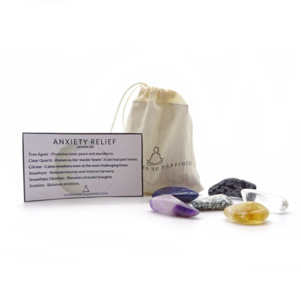 anxiety relief crystal set