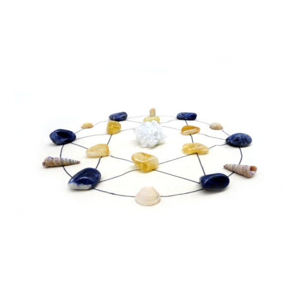 anxiety release crystal grid set