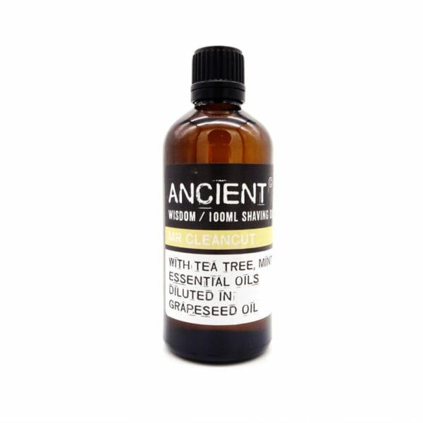 massage oil clean cut shaving
