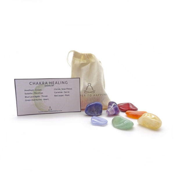chakra healing crystals at surrender to happiness