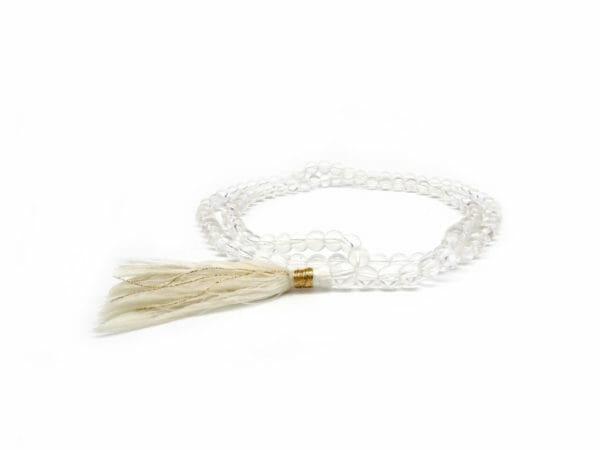 Clear quartz mala necklace