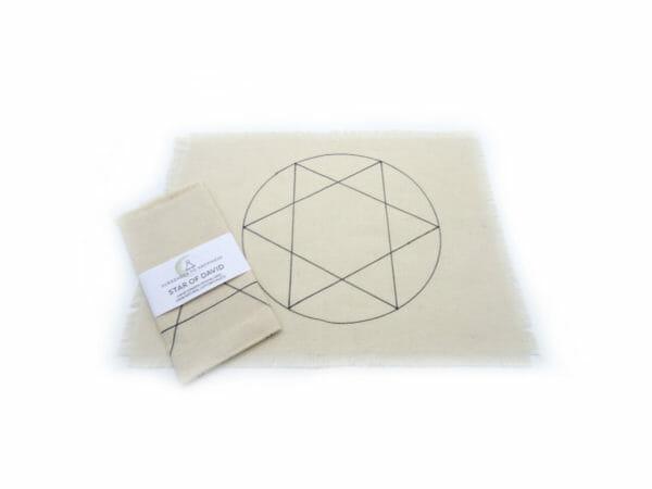 star of david crystal grid hand drawn