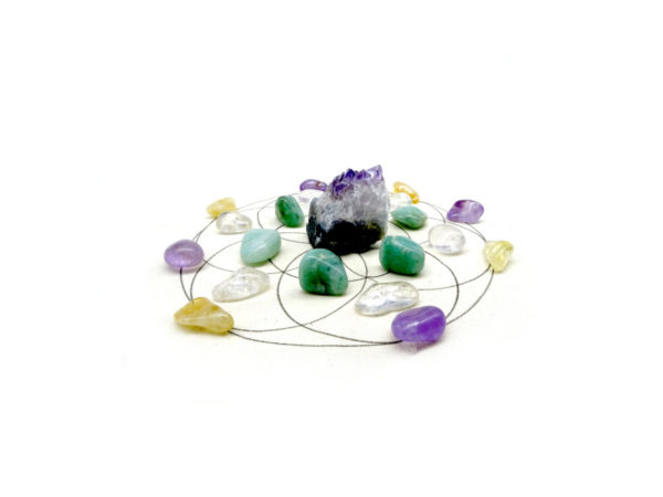 Good fortune crystal grid kit at surrender to happiness