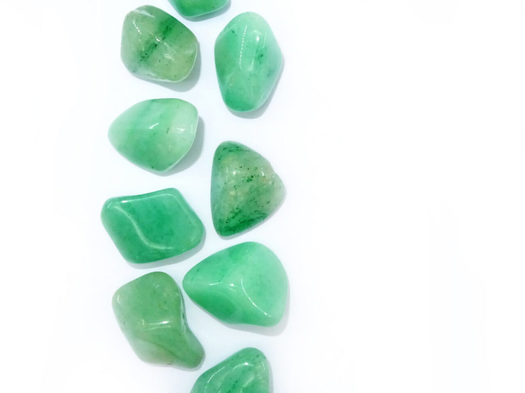 Green aventurine at surrender to happiness