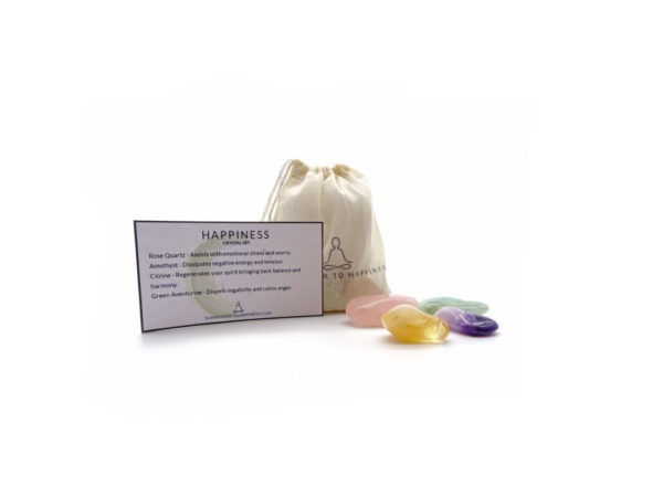 Happiness crystal set at surrender to happiness