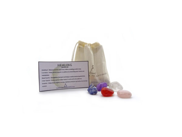 healing crystal set at surrender to happiness