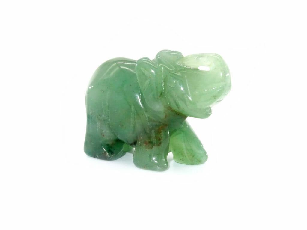 hand carved jade gemstone elephant at surrendertohappiness.com