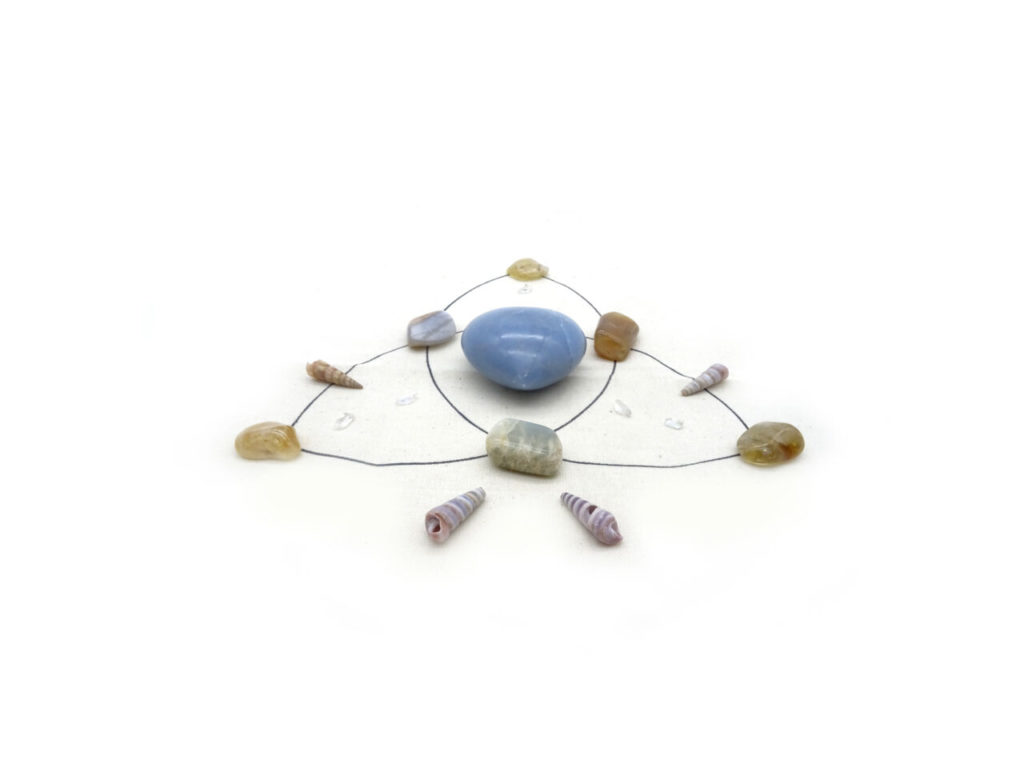 over coming fear crystal grid kit at surrender to happiness
