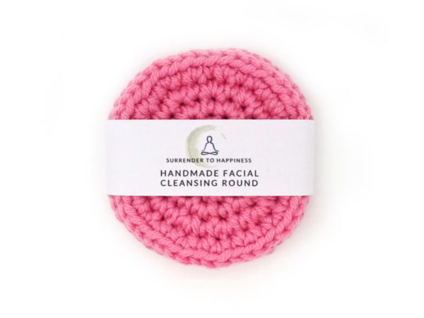 pink facial cleansing rounds