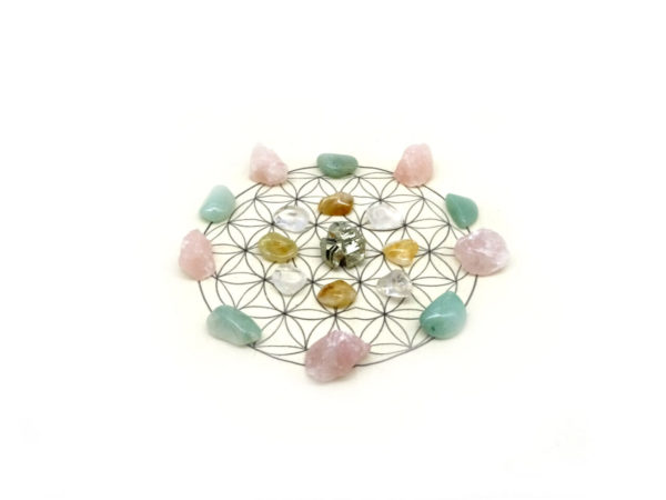 positivity crystal grid kit at surrender to happiness