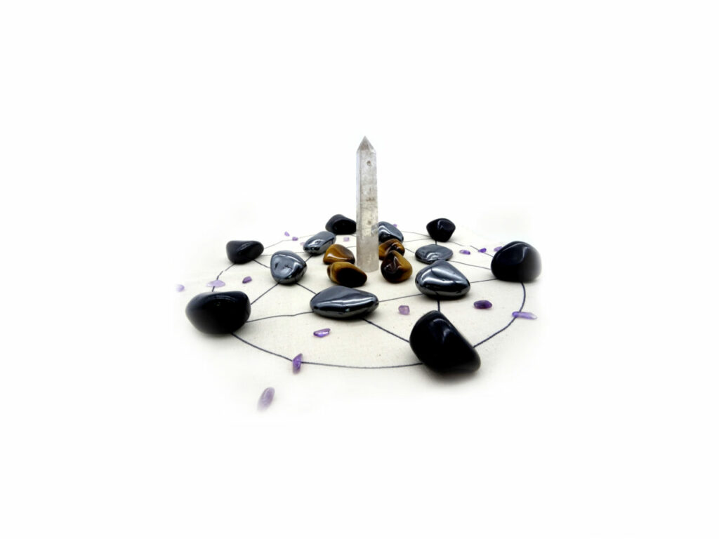 protection stones crystal grid kit
