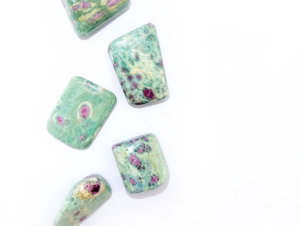 Ruby in fuchsite at surrender to happiness