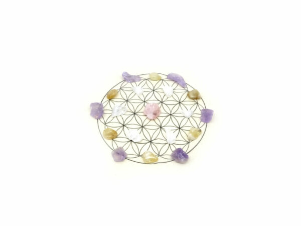self love crystal grid kit at surrender to happiness