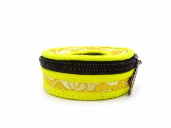 yellow tingsha case
