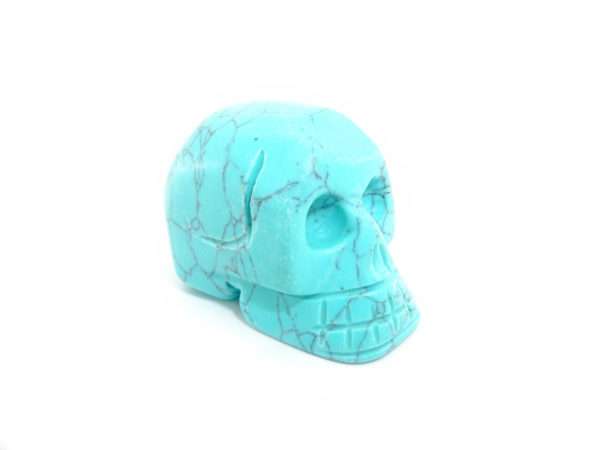 Turquoise carved gemstone skull