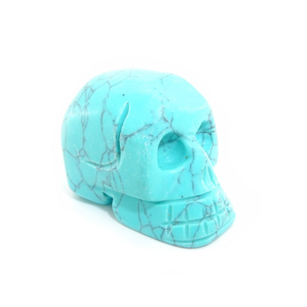 Turquoise carved gemstone skull