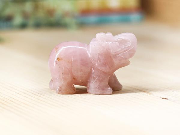 rose quartz crystal elephant