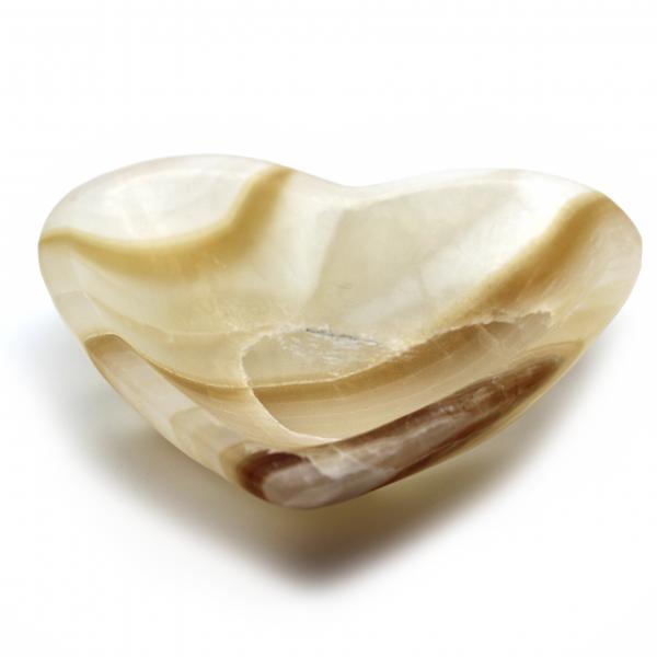 amber aragonite heart