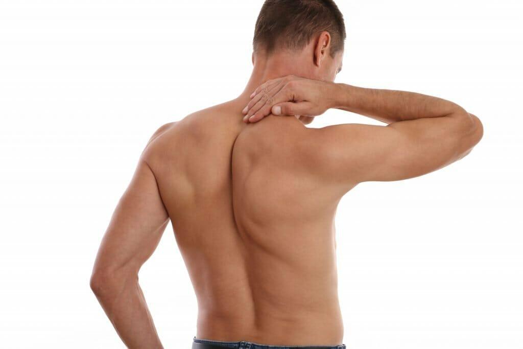 man giving a neck self-massage