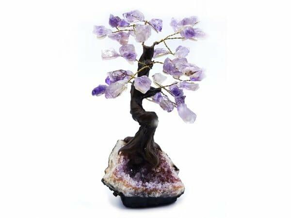 Amethyst gemstone tree