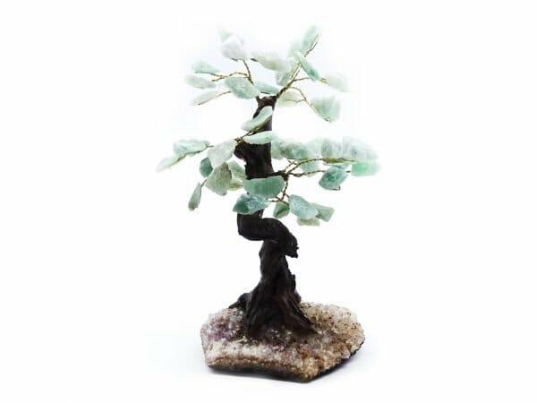 Green aventurine gemstone tree