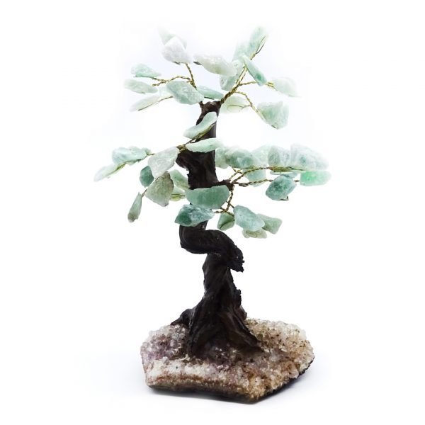 Green aventurine gemstone tree