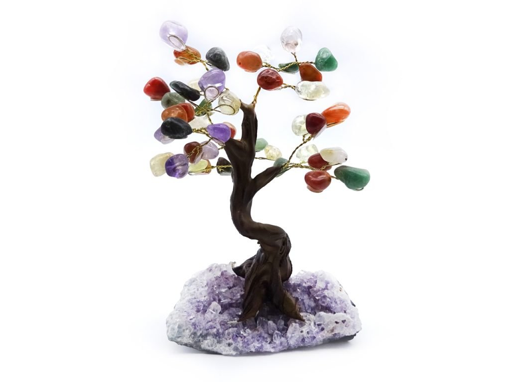 mixed gemstone tree