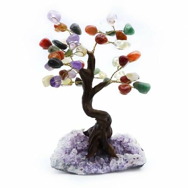 mixed gemstone tree